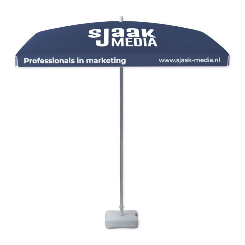 Parasol bedrukken bij Marketingbureau Sjaak Media
