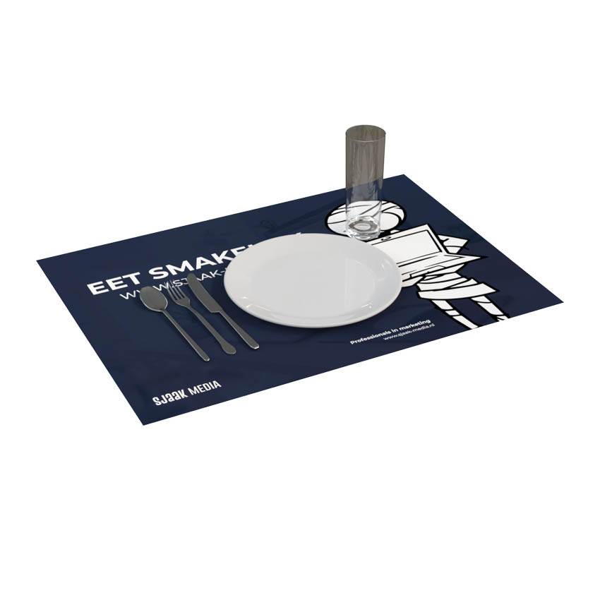 Placemats bedrukken bij Marketingbureau Sjaak Media